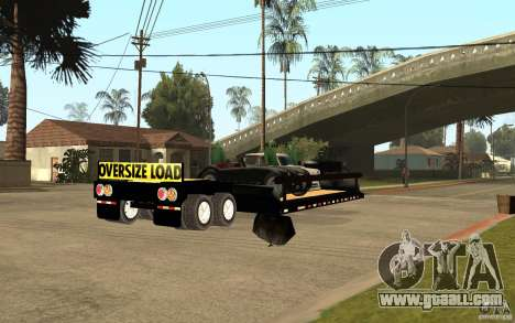 Trailer lowboy transport for GTA San Andreas right view