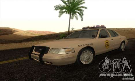 Ford Crown Victoria Iowa Police for GTA San Andreas