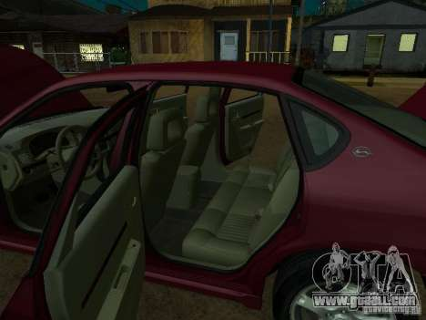 Chevrolet Impala 2003 for GTA San Andreas back view