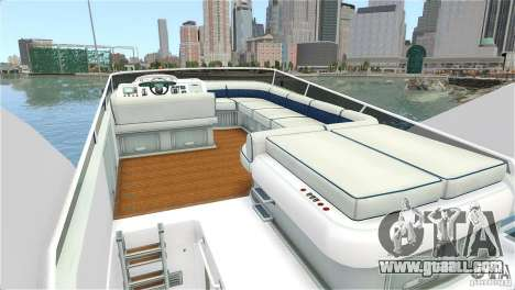 Luxury Yacht for GTA 4 right view