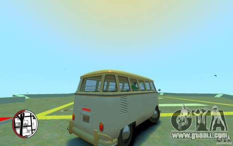Volkswagen T1 Bus 1967 for GTA 4 right view