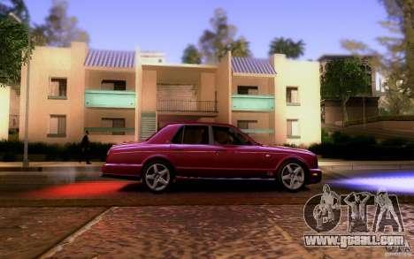 Bentley Arnage for GTA San Andreas inner view