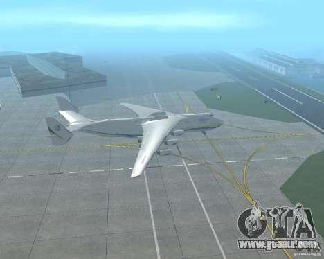 The an-225 Mriya for GTA San Andreas left view