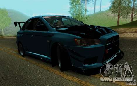 Mitsubishi Lancer Evolution X Tunable for GTA San Andreas side view