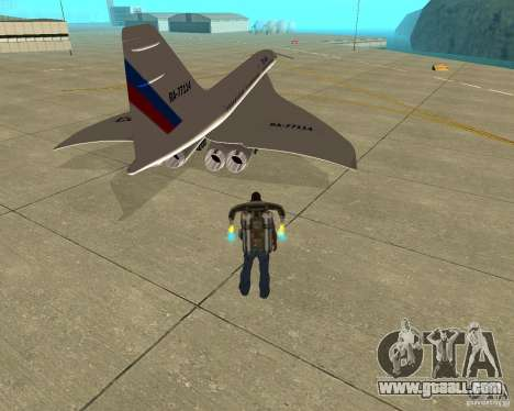 Tupolev TU-144 for GTA San Andreas back left view