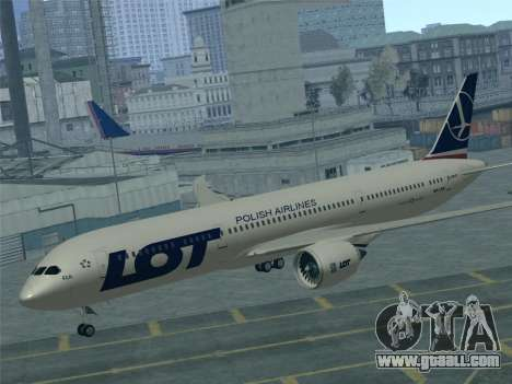 Boeing 787-9 LOT Polish Airlines for GTA San Andreas engine