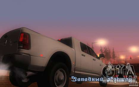 Dodge Ram 3500 Laramie 2010 for GTA San Andreas right view