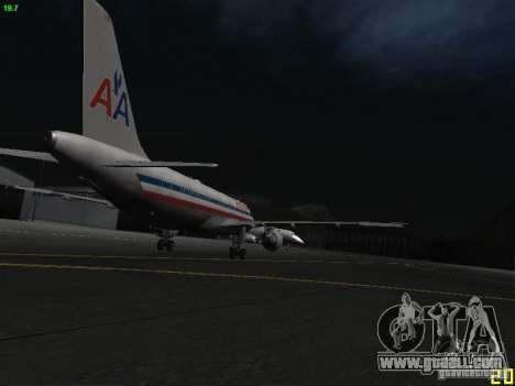 Airbus A320 for GTA San Andreas back view