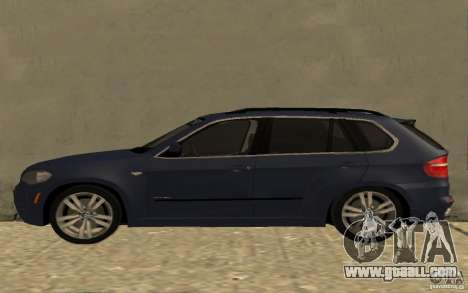 BMW X5 M 2009 for GTA San Andreas left view