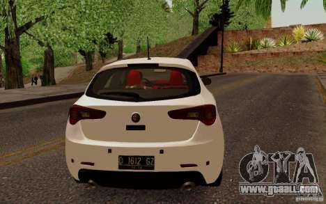 Alfa Romeo Giulietta 2010 for GTA San Andreas right view