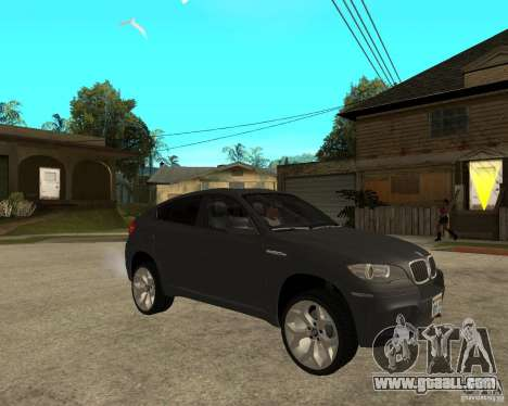 BMW X6 M for GTA San Andreas right view
