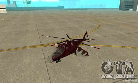 Mi-24 for GTA San Andreas