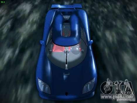 Koenigsegg CCXR Edition for GTA San Andreas back view