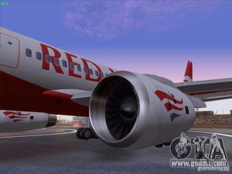 Tupolev Tu-204 Red Wings Airlines for GTA San Andreas right view