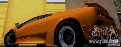 Lamborghini Diablo VTTT Black Revel for GTA San Andreas back left view