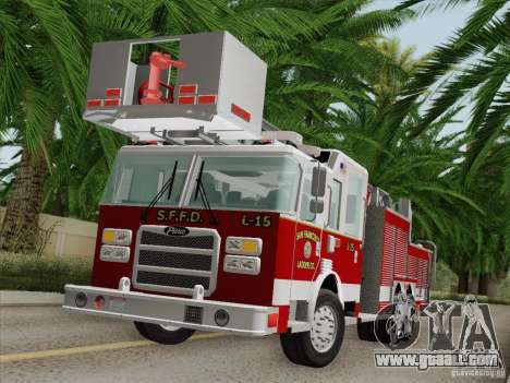 Pierce Aerials Platform. SFFD Ladder 15 for GTA San Andreas interior