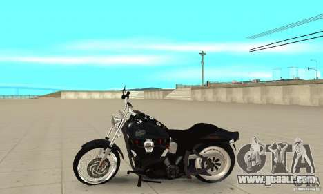 Harley Davidson FXSTBi Night Train for GTA San Andreas left view