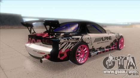 Mazda RX-7 FD K.Terej for GTA San Andreas right view