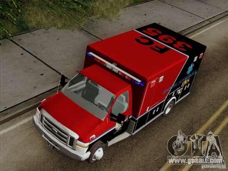 Ford E-350 AMR. Bone County Ambulance for GTA San Andreas back view