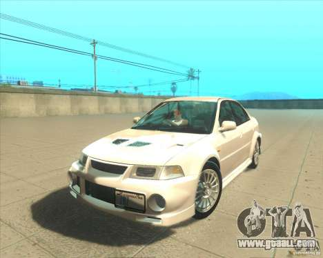 Mitsubishi Lancer Evolution VI 1999 Tunable for GTA San Andreas right view