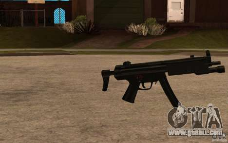 New MP5 with flashlight for GTA San Andreas second screenshot