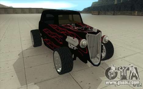 Ford Hot Rod 1934 v2 for GTA San Andreas back view