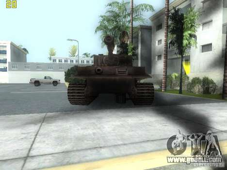 Tiger for GTA San Andreas left view