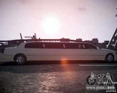Lincoln Town Car Limousine for GTA 4 right view