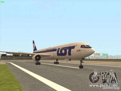 Boeing 767-300 LOT Polish Airlines for GTA San Andreas left view