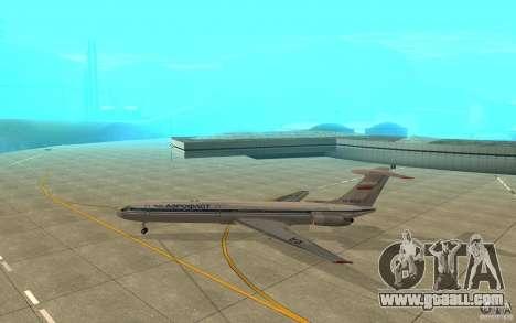 Aeroflot Il-62 m for GTA San Andreas back left view