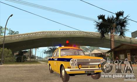 GAZ Volga 2401 Police for GTA San Andreas back view