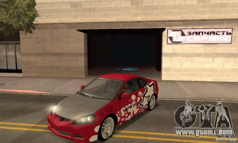 Acura RSX New for GTA San Andreas interior