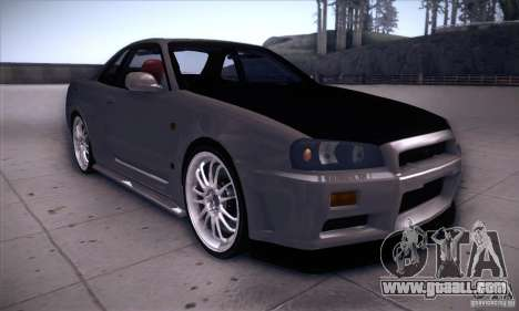 Nissan Skyline for GTA San Andreas back view