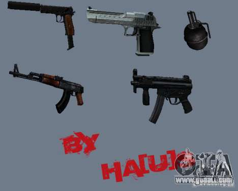 Pak weapons v0.1. for GTA San Andreas