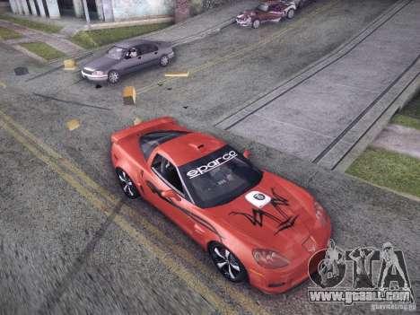 Chevrolet Corvette C6 Z06 Tuning for GTA San Andreas back view