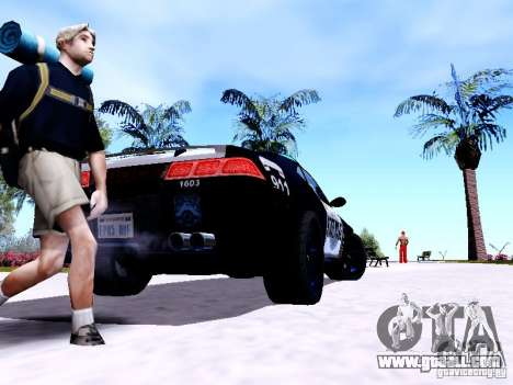 NFS Undercover Cop Car MUS for GTA San Andreas back left view