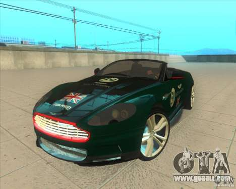 Aston Martin DBS Volante 2009 for GTA San Andreas upper view