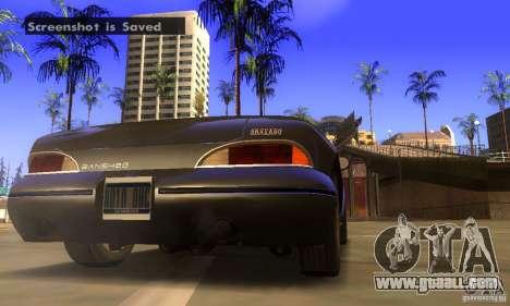 New Banshee [HD] for GTA San Andreas back view