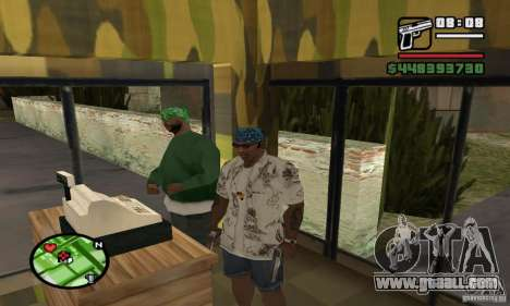 Gun shop on Grove for GTA San Andreas second screenshot