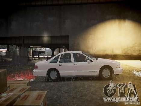 Chevrolet Caprice 1993 Rims 1 for GTA 4 inner view
