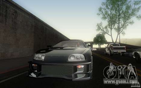 Toyota Supra Chargespeed for GTA San Andreas side view