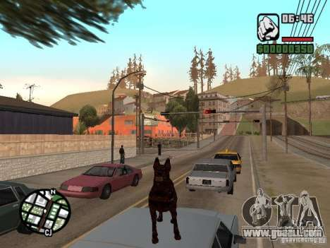 Cerberus from Resident Evil 2 for GTA San Andreas fifth screenshot