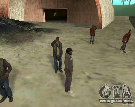 Barney homeless for GTA San Andreas forth screenshot