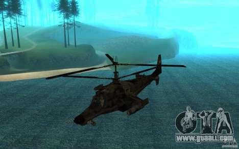 Kamov KA 50 Dlack Shark for GTA San Andreas