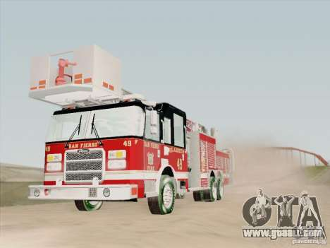 Pierce Rear Mount SFFD Ladder 49 for GTA San Andreas interior