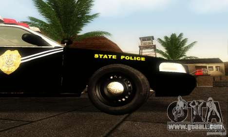 Ford Crown Victoria New Mexico Police for GTA San Andreas right view
