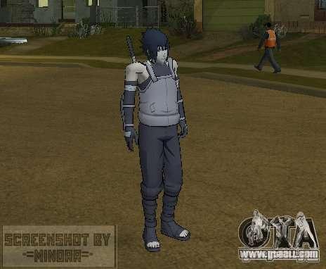 Skin Sasuke Anbu for GTA San Andreas second screenshot