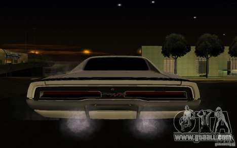 Dodge Charger R/T for GTA San Andreas back view