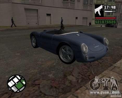 Porsche 550 for GTA San Andreas back view