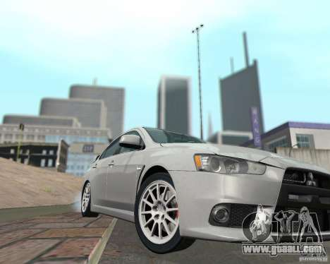 Mitsubishi Lancer Evolution X for GTA San Andreas side view